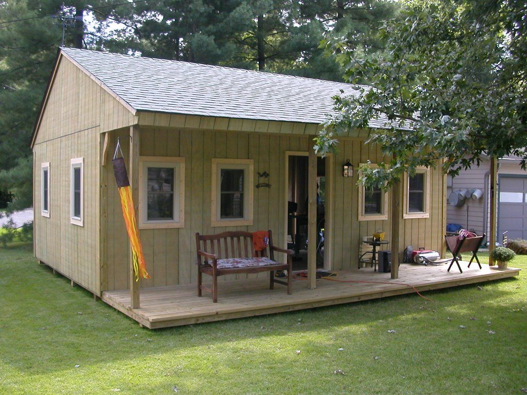 Man cave or woman cave or just a time out shed for for Backyard garages