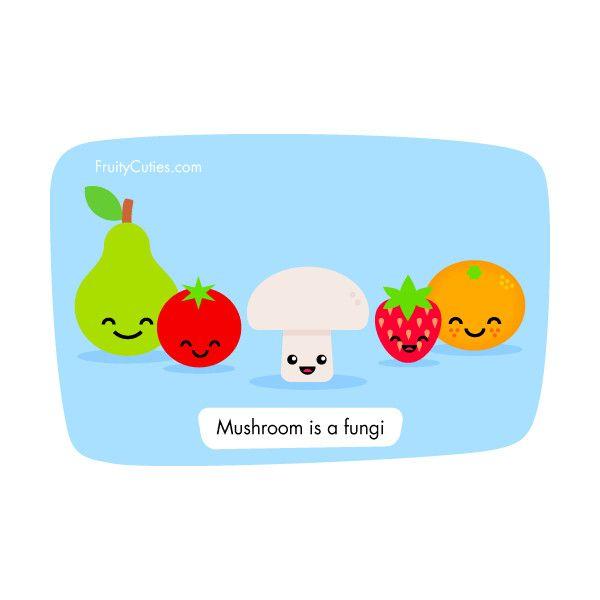 mushroom joke cute comedy with kawaii fruit fruity cuties 0 30