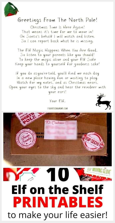 Wonderful Free Elf on the Shelf Ideas for Arrival 10 Free