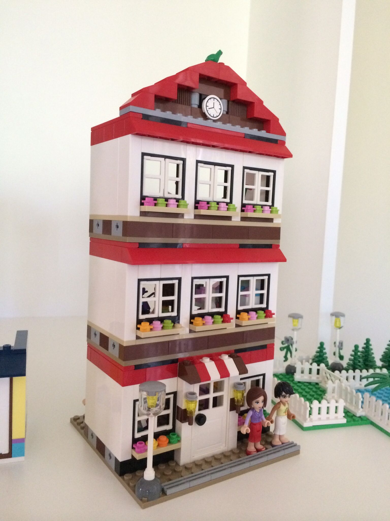 """Custom Lego House made with """"Pick-a-brick"""", similar to Lego Friends High School"""