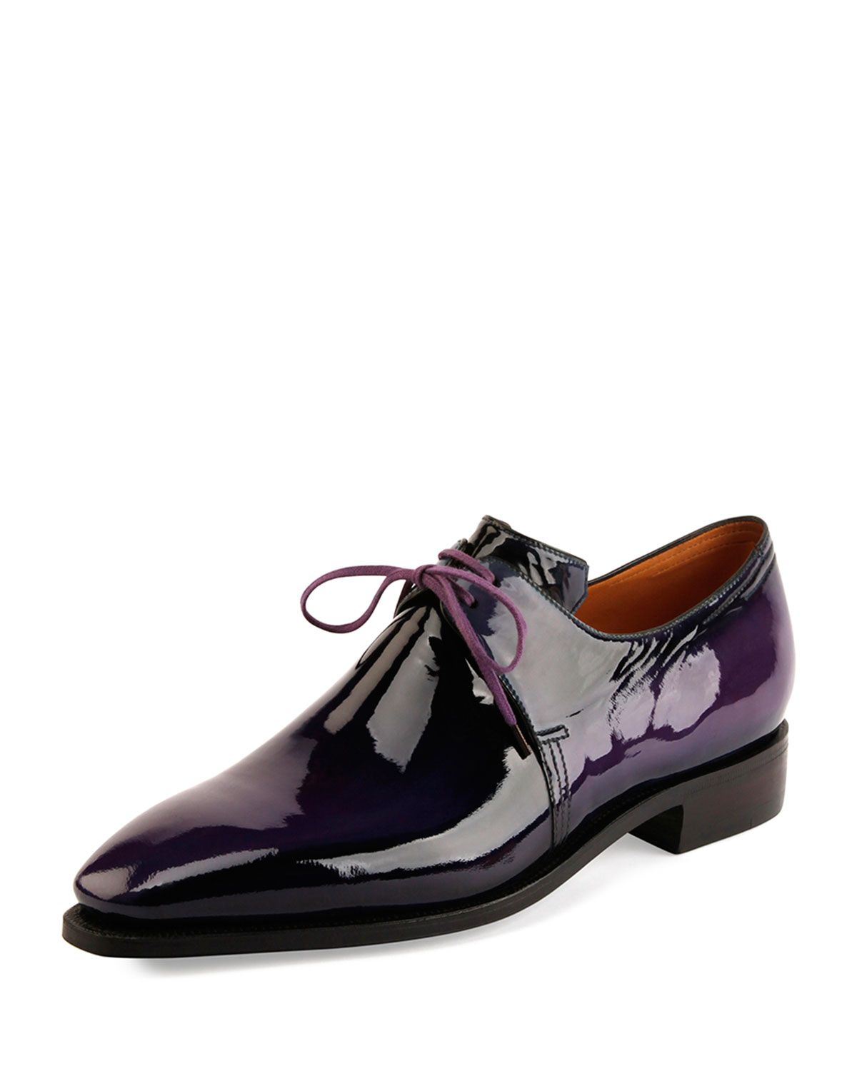 Corthay Arca Patent Leather Derby Shoe