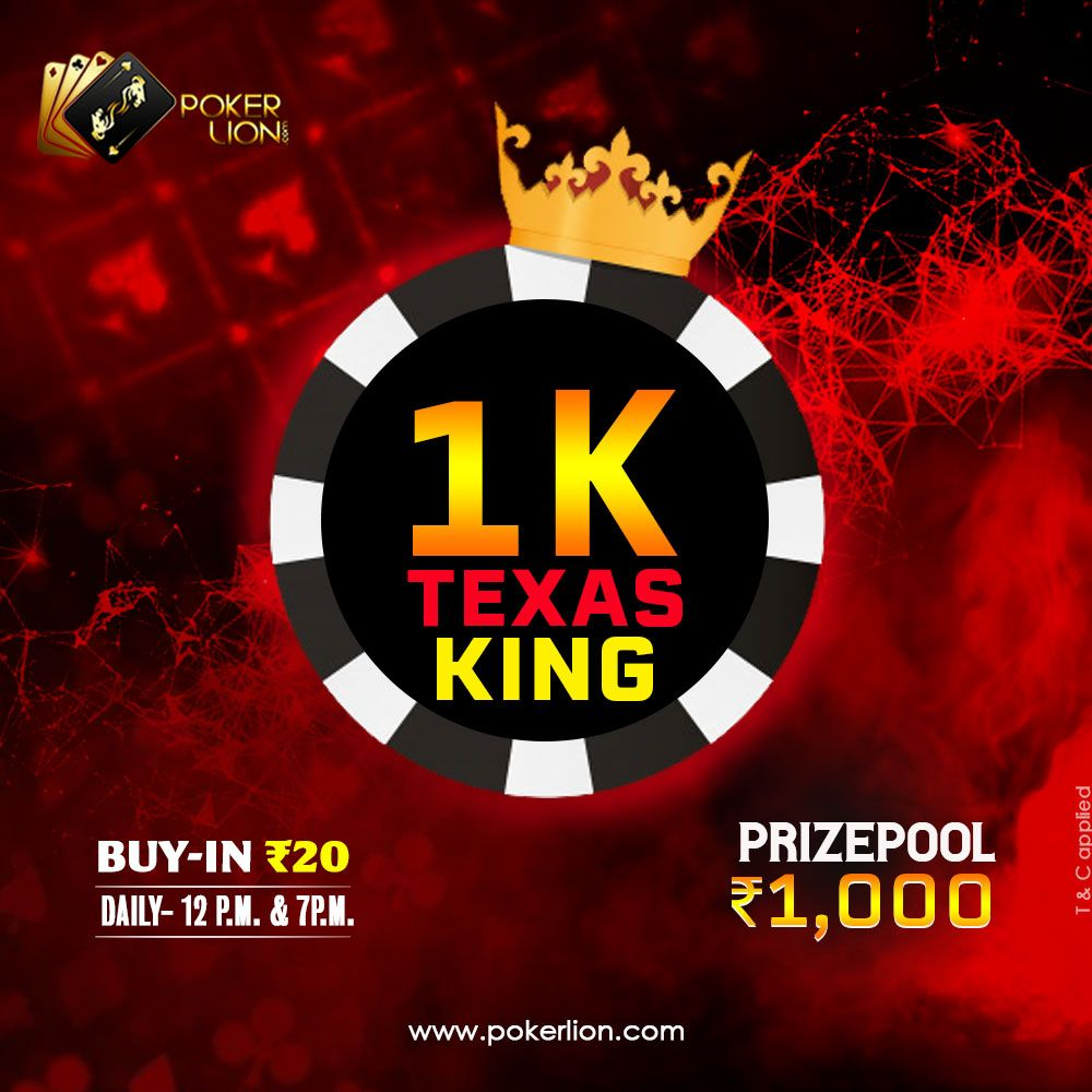 1k Texas King Poker Online Poker Poker Tournament