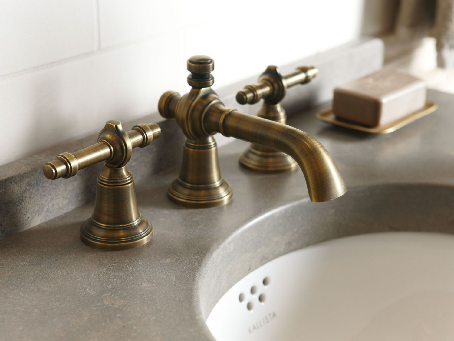 Sink Faucet, Lever Handles | Faucet, Sinks and Bath ideas