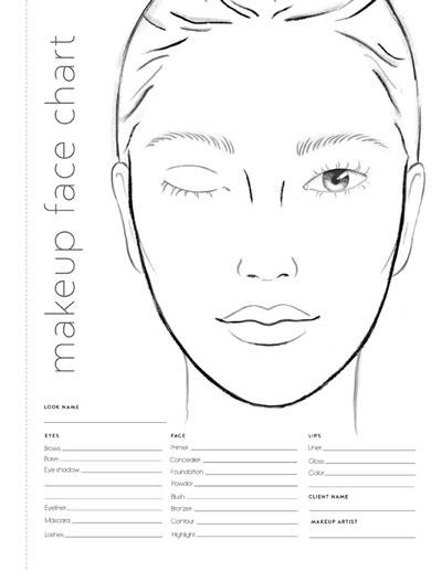 Makeup Face Charts Colorista Books