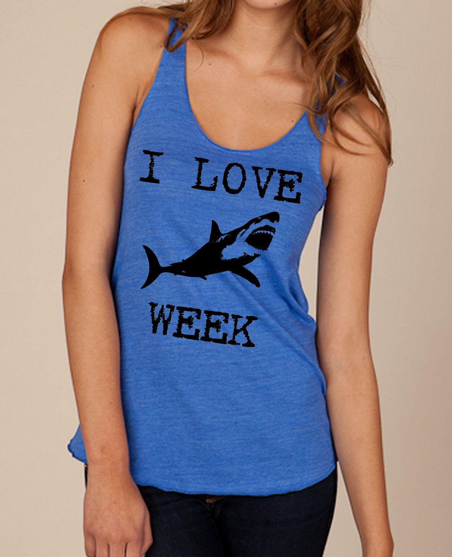 Black keys t shirt etsy - I Love Shark Week Girls Ladies Heathered Tank Top Shirt Silkscreen Screenprint Alternative Apparel Via Etsy