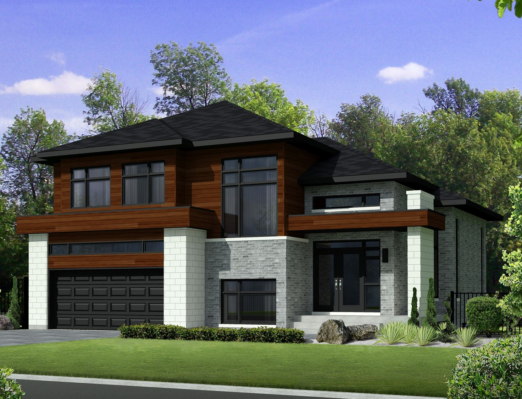 Plan 80851pm two story contemporary house plan
