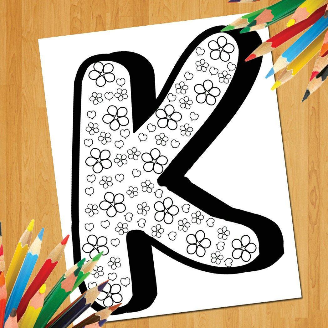 Coloring Alphabet Printable Worksheets For Kids Preschool