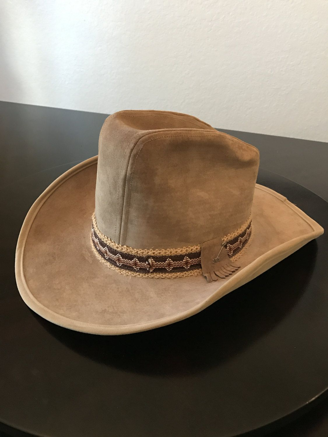 Vintage Suede Leather Stetson  JBS Stetson Cowboy Hat by BazemoreVault on  Etsy d2609a6911b3