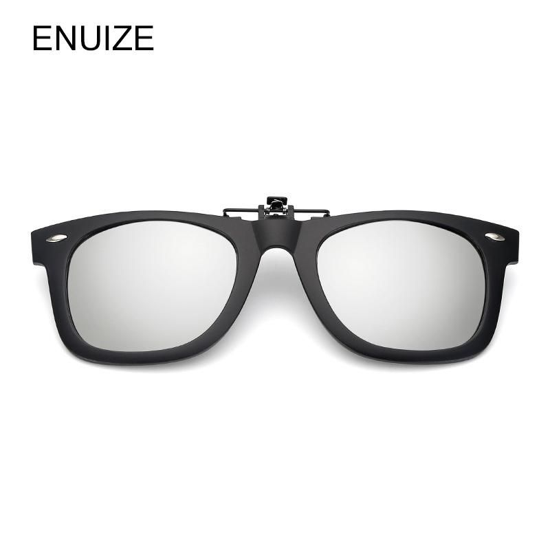 598efaa7ed Men Women Polarized Clip on Sunglasses Square Polaroid Lens Unisex Myopia  Sun Glasses Driving Clip on Glasses. Yesterday s price  US  10.49 (9.38  EUR).