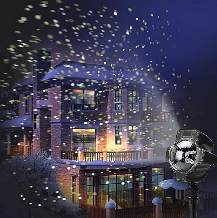 Weihnachtsbeleuchtung Aussen Schneefall.Smithroad Led Projektionslampe Mit Fernbedienung Bewegliche Punkte