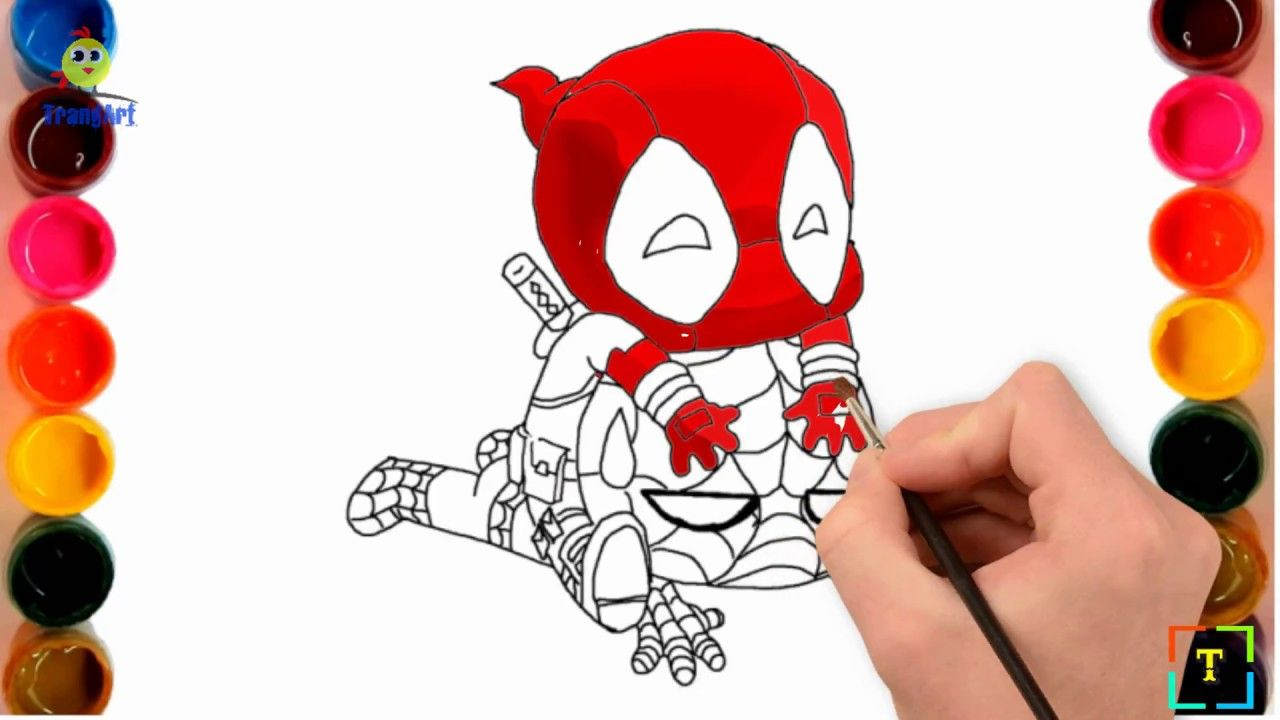 Today S Video Is Marvel Deadpool 2 Coloring Pages How To Draw Deadpool Vs Spiderman Sup Cute Cartoon Drawings Spiderman Drawing Drawing Cartoon Characters
