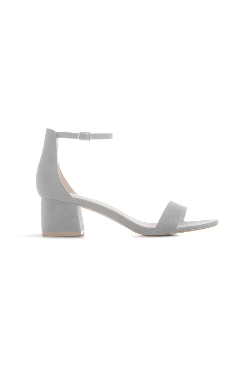 5f06edb2 Primark - Gray Block Heel Sandals | Footwears❣ in 2019 | Grey block ...
