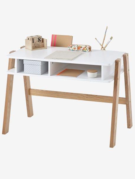 Schreibtisch Für Vorschüler U0027Architekt Miniu0027 EINFARBIG HELLWEISS+MULTICOLOR  HELLWEISS+TüRKIS