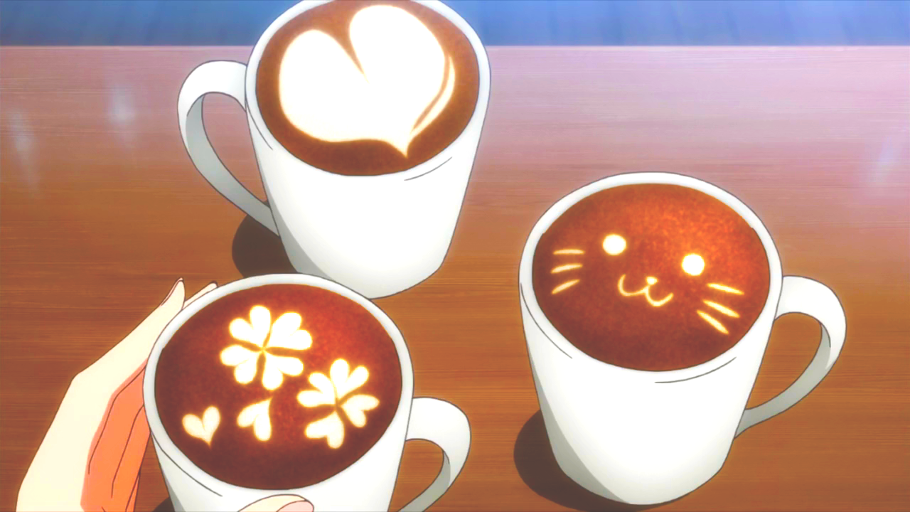 Cups of Chocolate Latte arts! ☕☕☕ Food illustrations