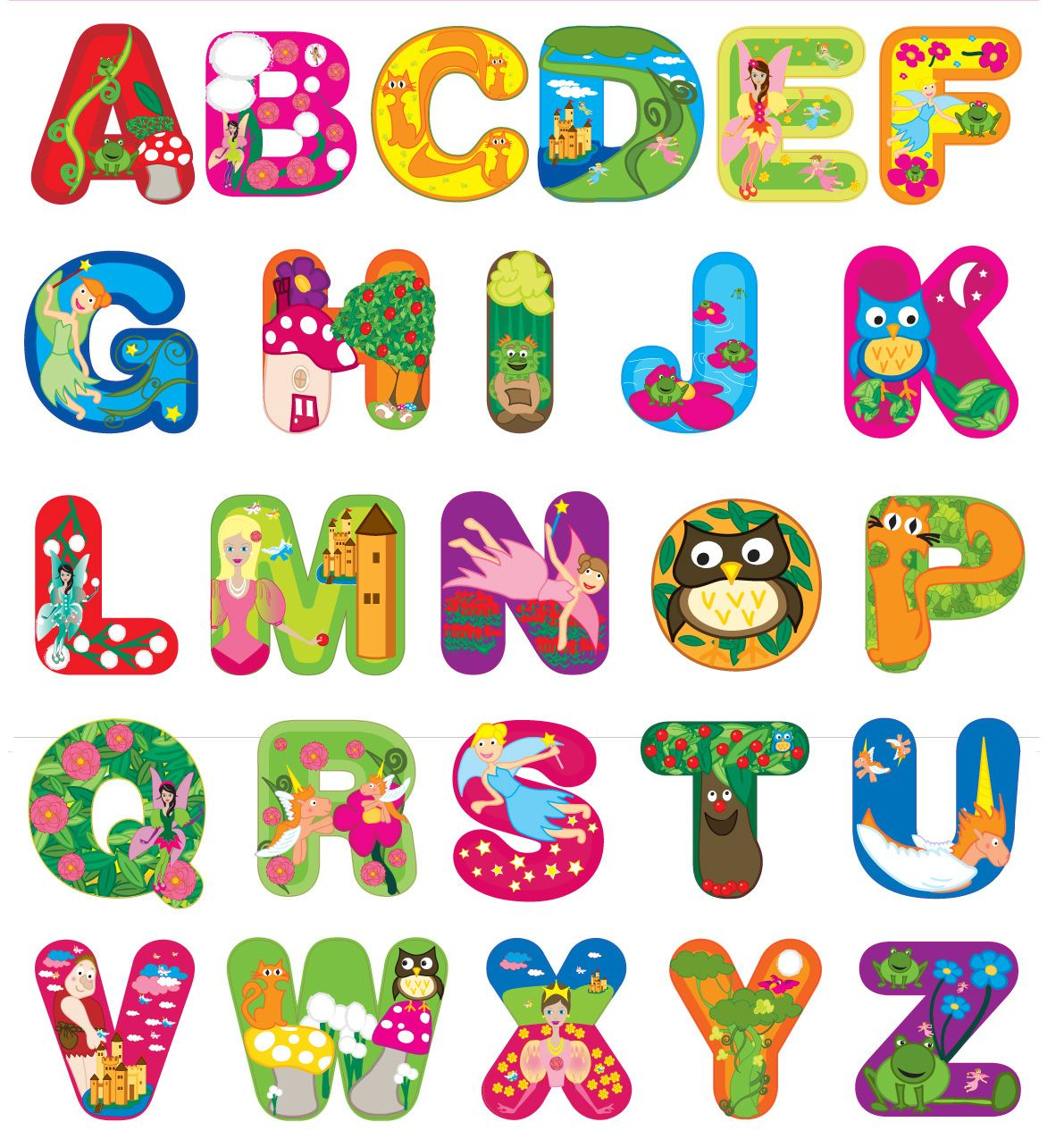 Alphabets Enchanted Forest