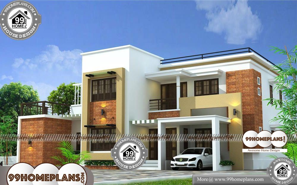 Indian Home Plans Free 70 Beautiful Two Storey House Designs Ideasindian Home Plans Free With Des Cool House Designs Two Storey House House Design Pictures