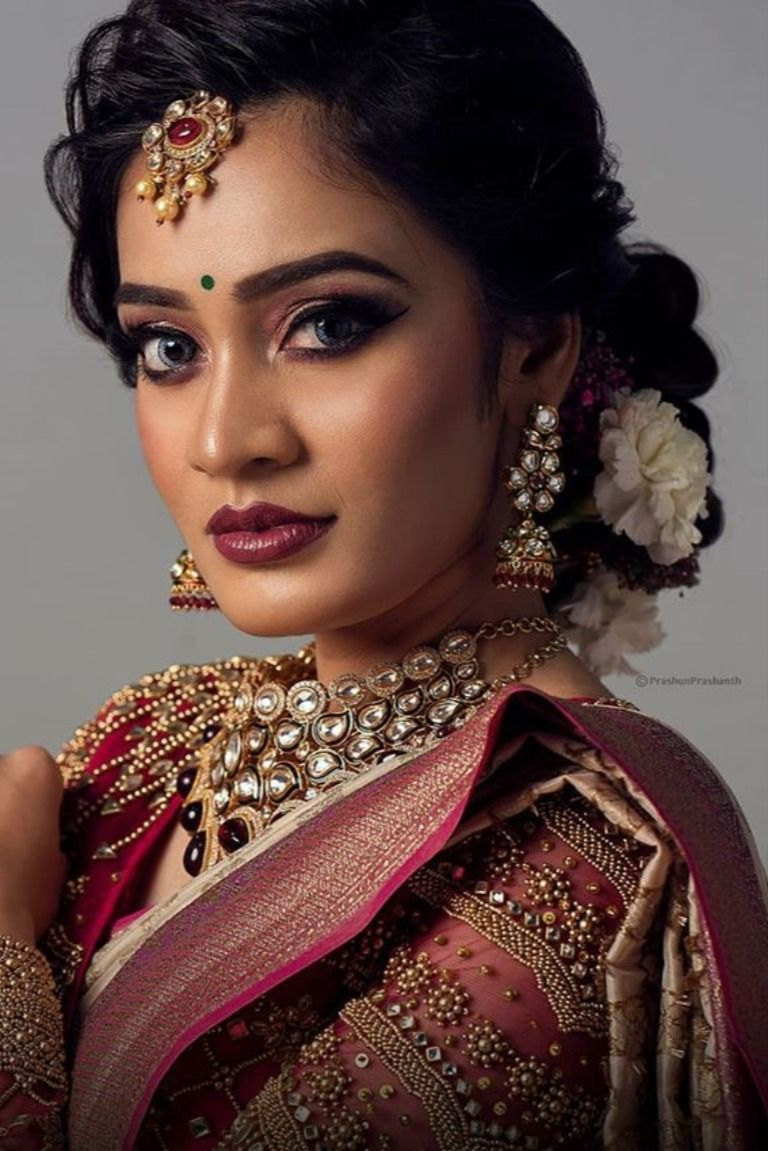 South Indian Bridal Look By Makeup Artists From Chennai in