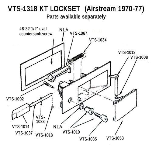 Kt Lock Parts Airstream 1970 77 Camper Airstream