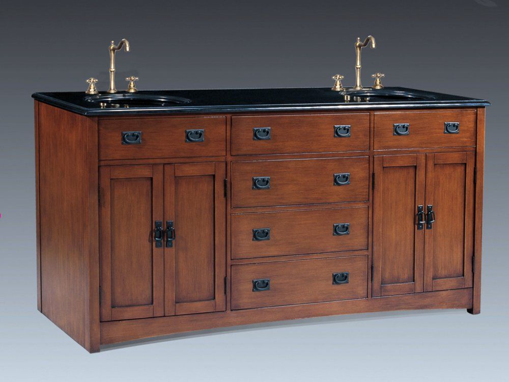 Craftsman Style Vanity Cabinets Mission 72 Double Sink