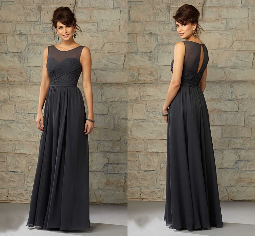 Cheap charcoal gray bridesmaid dresses