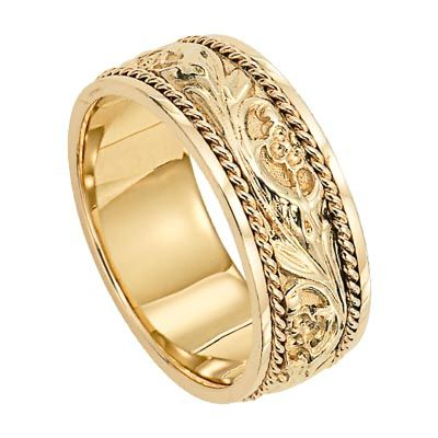 Lieberfarb Wedding Rings And Engagement Rings Mens Wedding Rings Gold Carved Wedding Ring Wedding Ring Designs