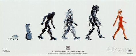 Battlestar Galactica - Evolution of the Cylon Pôsters na AllPosters.com.br