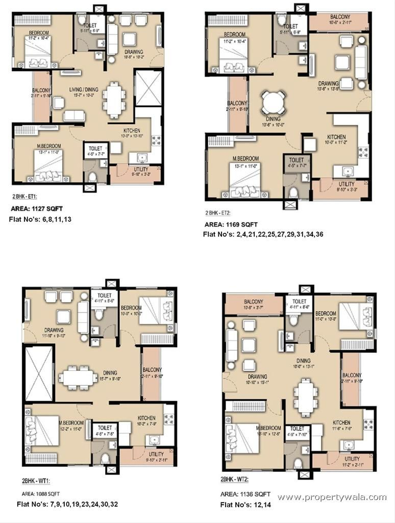 Flat Plan 2bhk South Facing Floor Plans Google Search Apartments