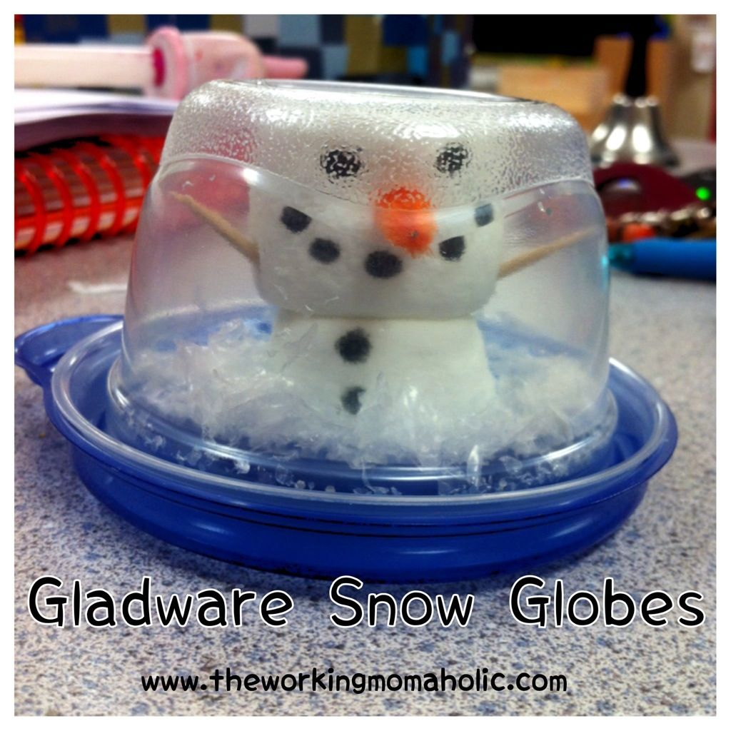 Gladware Snowglobes A Christmas Craft