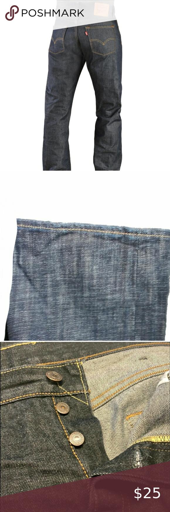 Levi's 501 dark blue denim jeans long 33x34 in 2020 | Dark ...