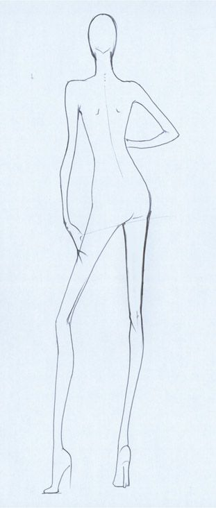 482007 Fashion Sketching Assignment--D\G This is a sketch\/pose - blank fashion design templates
