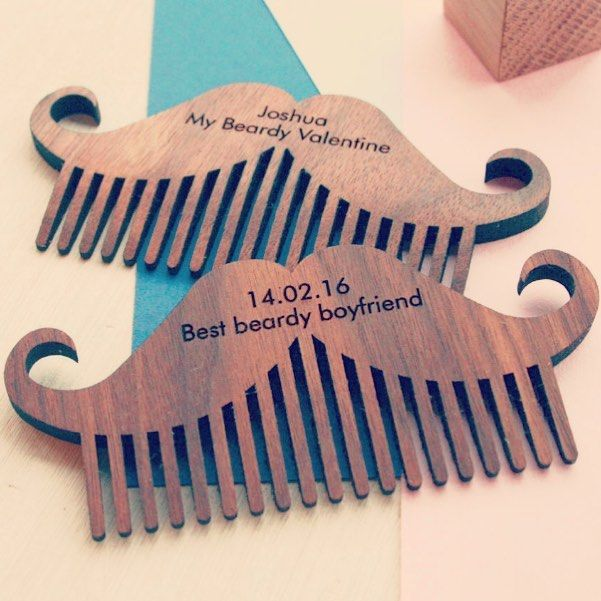 Best beardy moustache combs are the perfect Valentine's gift for that special bearded significant other. Personalised and made by us in rural #northamptonshire available through the link in bio #northants #kettering #woodworking #woodpaperscissors #onetidystudio #valentines #valentinesgift #notonthehighstreet #personalised #personalisedgifts #beard #beards #beardcomb #beardgang #beardo #beardlife #beardie #wooden