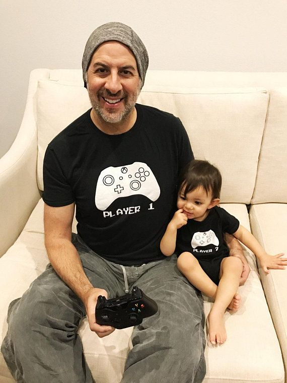 2541734eaf331 Father Son Matching Shirts XBOX Player 1 Player 2 Father s Day Shirt Idea  and Gift Dad and Baby Gam