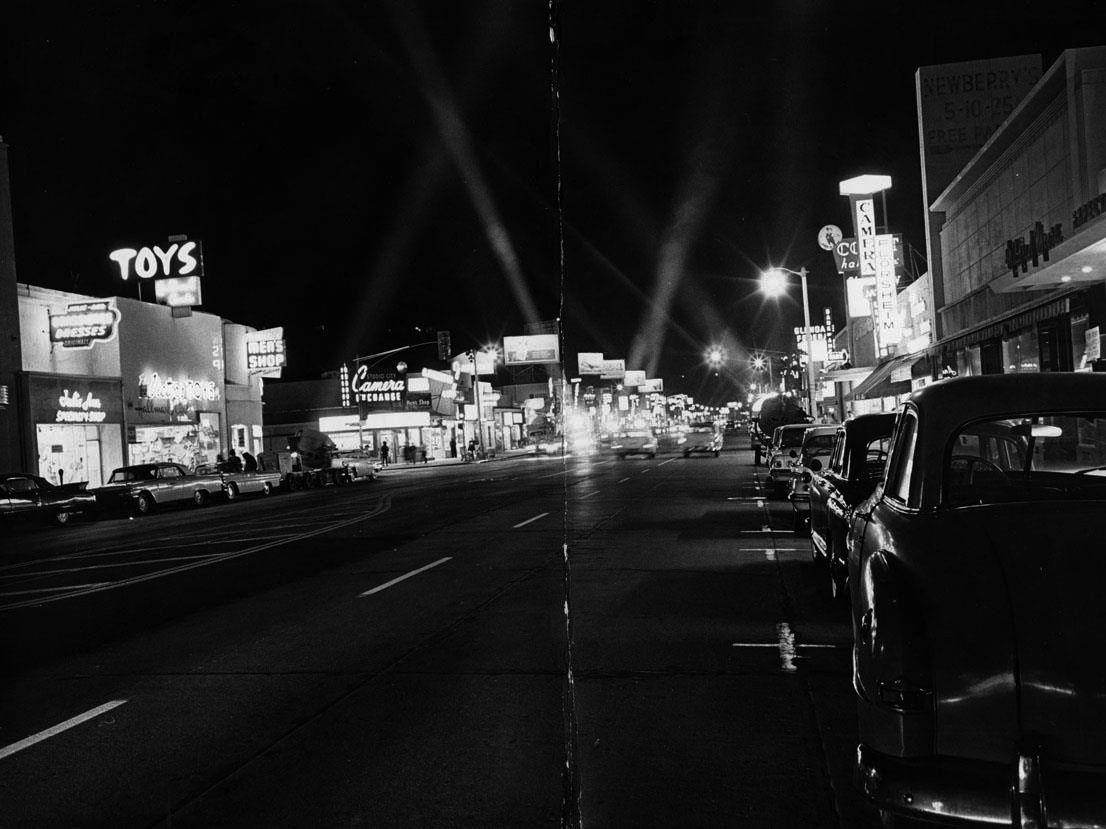 Ventura near Laurel Canyon Boulevard, Los Angeles, 1962