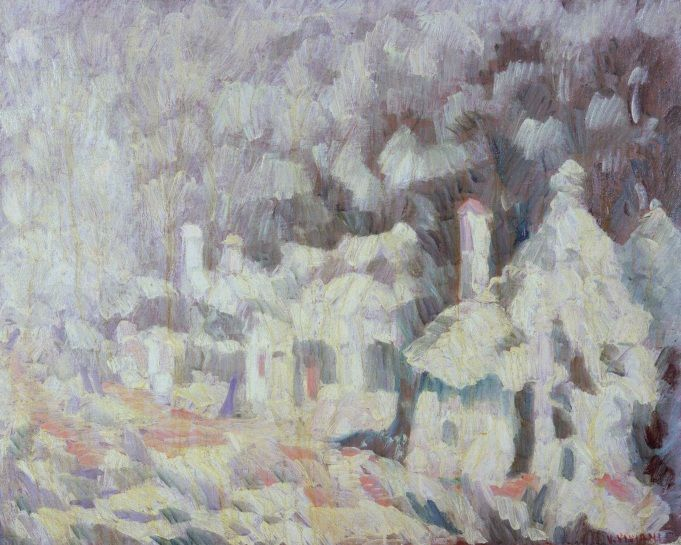 Vittorio Viviani, White Trullo, oil on canvas, 80x100cm, 1976.