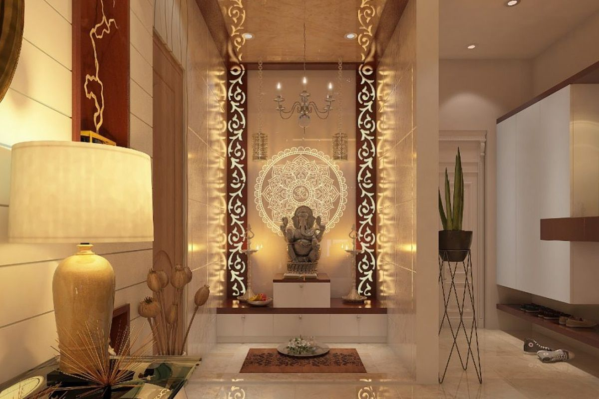 Pin by Stephanie Whitzell on Puja Room | Pooja room design ...