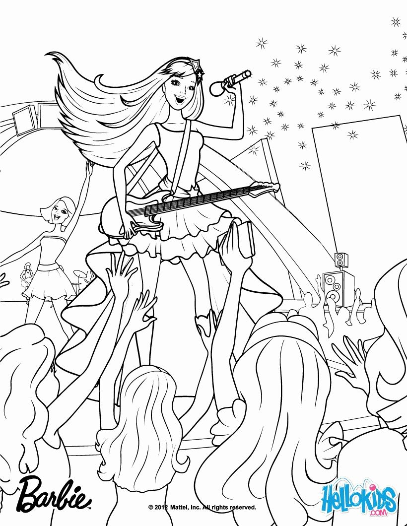 Rockstar Princess Barbie Coloring Pages Free Printable For Kids In 2020 Cartoon Coloring Pages Barbie Coloring Pages Princess Coloring Pages
