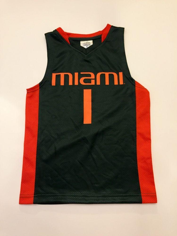 4d578322fe1 UNIVERSITY OF MIAMI HURRICANES Replica Basketball Jersey Size 6-7 Brand New   NFLTeamApparel  KansasCityChiefs
