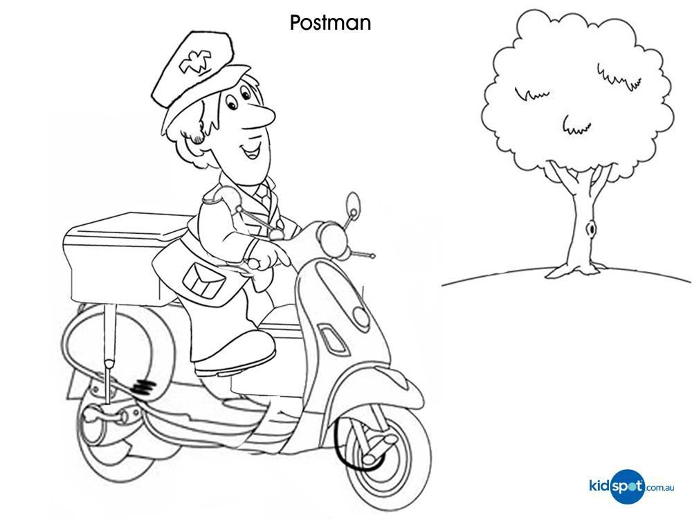 Postman Pat Printables 8 Mailman Coloring Pages For Kids Coloring Pages Coloring For Kids Coloring Pages For Kids
