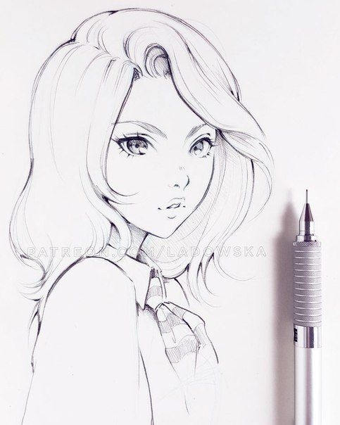 Pin By Everett Mirkin On Portraits Anime Drawings Sketches Sketches Anime Drawings
