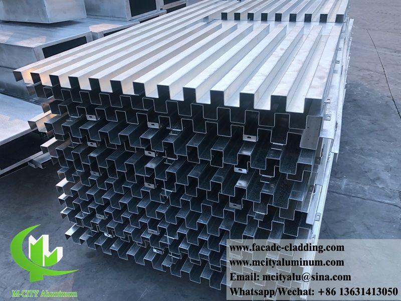 Bending Facade Folded Sheet Aluminum Wall Cladding Decoration