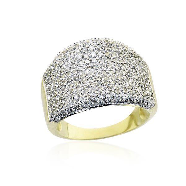 Weissgold ring mit topas
