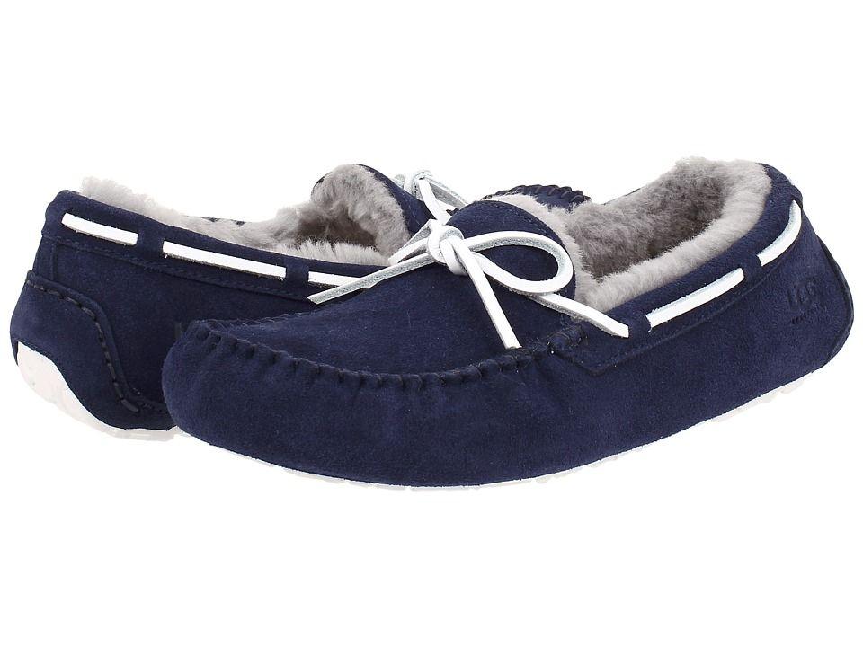 UGG Olsen Mens Navy Suede Slippers