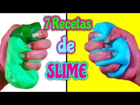7 Recetas De Slime Sin Pegamento Ni Liquido Para Lentillas Ni Borax Youtube Slime Receta Slime Casero Sin Borax Como Hacer Slime Casero