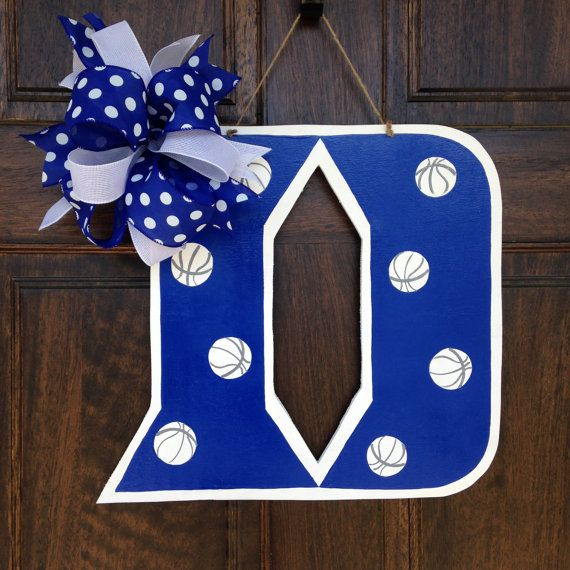 Duke Blue Devils Door Decor By Knockknockrva On Etsy Schools Rhpinterest: Duke Blue Devils Home Decor At Home Improvement Advice
