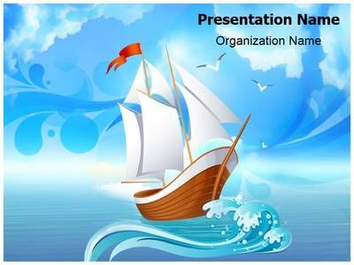 Sailboat Transportation Powerpoint Template is one of the best - summer powerpoint template