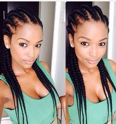 Afro braids style Coup Coiffure, Coiffure africaine et