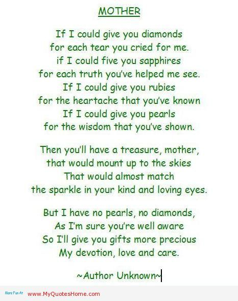 Memorial quotes for mom memorial words for mother http for Mothers day poems that make you cry