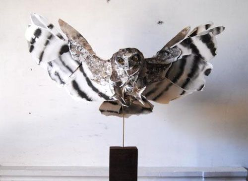 Paper Owl Sculpture Funny Bizarre Amazing Pictures Videos - Artist creates amazing paper sculptures ever seen