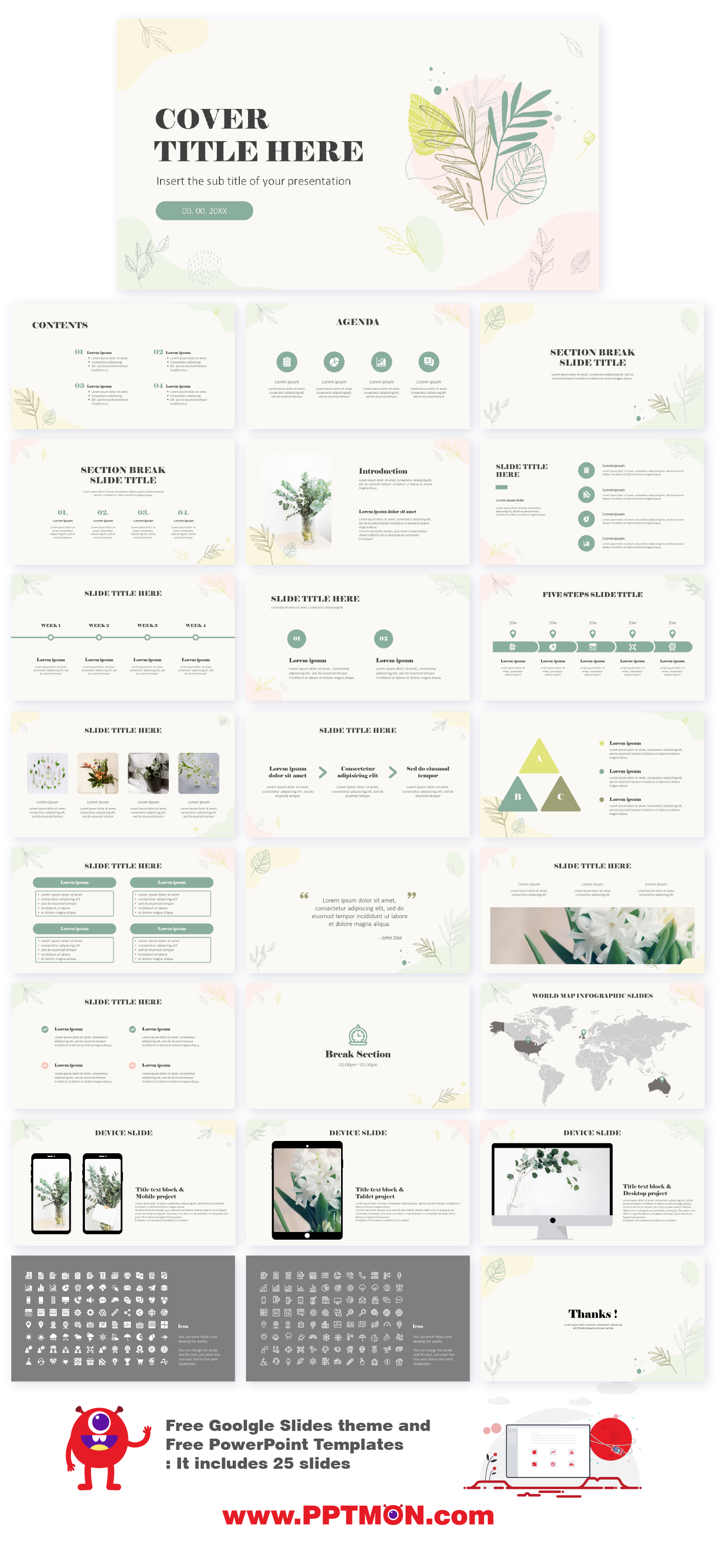 Free Google Slides Themes And Powerpoint Templates For Organic Hand Drawn B Free Powerpoint Templates Download Powerpoint Templates Powerpoint Design Templates