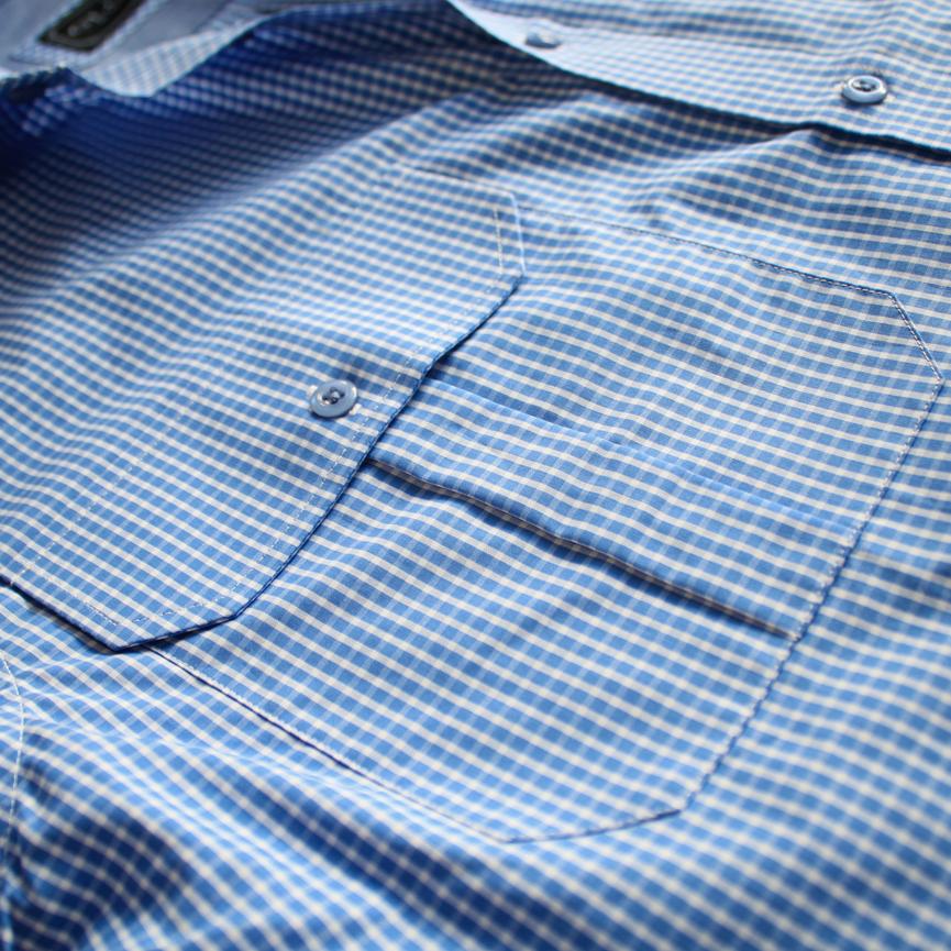 a8d5c76d8 Gloster Men s Blue Gingham Shirt